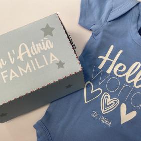 Body bebe azul 3 Body personalizado bebé