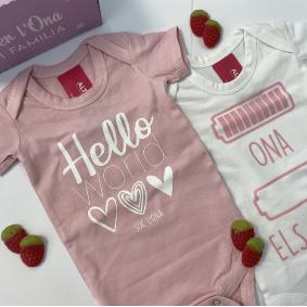 Body bebe rosa 3 Body personalizado bebé