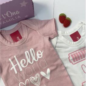 Body bebe rosa 4 Body personalizado bebé