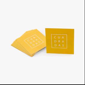 tarjetas de visita cuadradas
